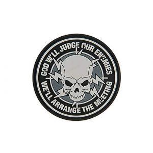 G-Force Airsoft Morale Patch 1 God Will Judge Our Enemies PVC Morale Patch - Black