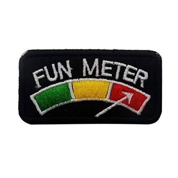 Embroidered Patch Airsoft Morale Patch 1 Fun Meter 3D Tactical Patch Military Embroidered Morale Tags Badge Embroidered Patch DIY Applique Shoulder Patch Embroidery Gift Patch