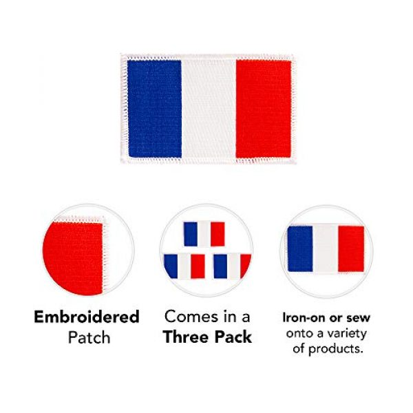 Desert Cactus Airsoft Morale Patch 3 France Flag Patch Bulk 3-Pack 3.5Wx2.25H State Iron On Sew Embroidered Tactical Morale Back Pack Hat Bags French (3-Pack Patch)