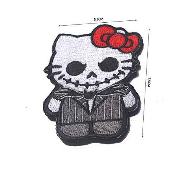 Kseen Airsoft Morale Patch 2 Hello Kitty Embroidered Patches As Jack Nightmare Before Christmas Armband Badge Morale Emblem Military Applique Fastener Decorative Patch