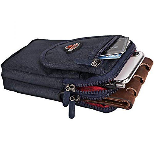 IronSeals Tactical Pouch 5 IronSeals AQ Tactical Waterproof Shoulder Tape Molle EDC Belt Waist Pouch Bag Zipper Tough D-Ring Hook & Loop Three Interlayer Wallet for Phone