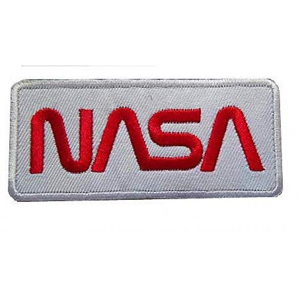 """Embroidery Patch Airsoft Morale Patch 1 NASA Worm"""" Logo Military Hook Loop Tactics Morale Embroidered Patch (color3)"""