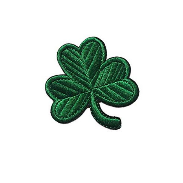 Embroidery Patch Airsoft Morale Patch 2 Irish Clover Leaf Military Hook Loop Tactics Morale Embroidered Patch