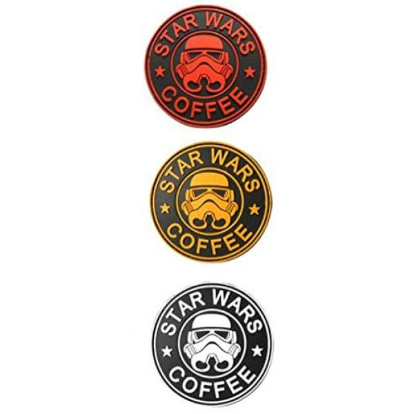 Tactical PVC Patch Airsoft Morale Patch 1 Star Wars Clone Trooper Helmet PVC Military Tactical Morale Patch Badges Emblem Applique Hook Patches for Clothes Backpack Accessories