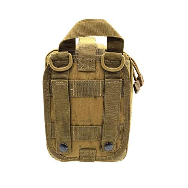 Miyha Tactical Pouch 4 MOLLE Tactical Rip-Away EMT Medical First Aid IFAK Blowout Pouch (Bag Only)