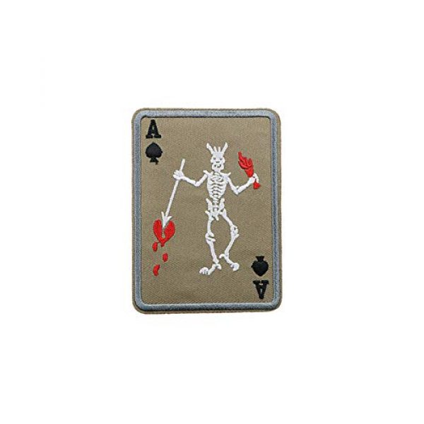 Aysekone Airsoft Morale Patch 4 Aysekone 4 Pack Embroidery Badges Card Poker Ace of Spades Patches Army Combat Tactical Military Morale Badge Hooks and Loop Band Badges