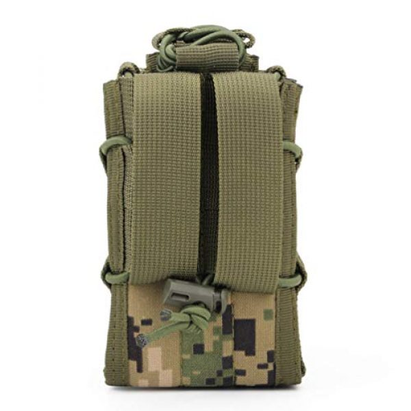 BESPORTBLE Tactical Pouch 2 BESPORTBLE 1PCS Attachment Sub-Package MOLLE System Vest Accessory Kit Storage Multiple Pocket Molle Bag Outdoor Camping Backpack Hiking Strap Backpack (Green Style)