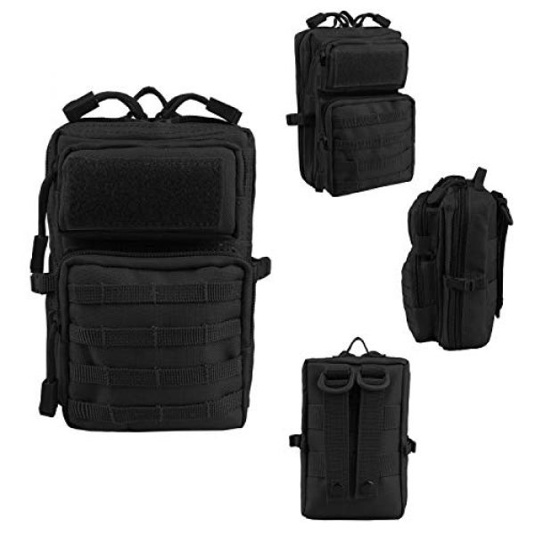 AMYIPO Tactical Pouch 5 AMYIPO MOLLE Pouch Multi-Purpose Compact Tactical Waist Bags Small Utility Pouch Mini Pocket