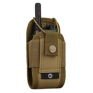 SINAIRSOFT Tactical Pouch 1 SINAIRSOFT Nylon Radio Holster, Universal Radio Case Lightweight Military Interphone Storage Bag Pouch for Molle System Walkie Talkies Holster Accessories