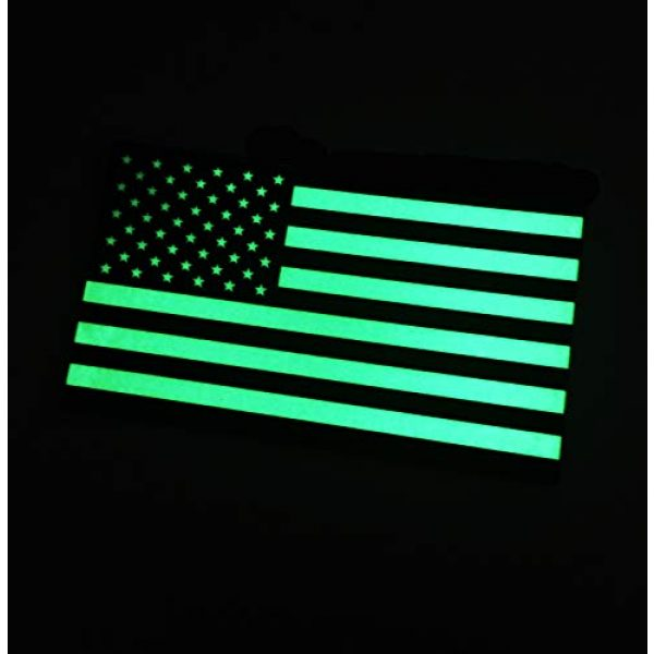 Empire Tactical USA Airsoft Morale Patch 2 (Forward) Mi-spec Ultra Glow in The Dark American US Flag Uniform Morale Patch