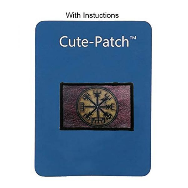 Cute-Patch Airsoft Morale Patch 3 Retro Vikings Compass Iron On Patch Norse Rune Badge Tactical Military Army Emblem