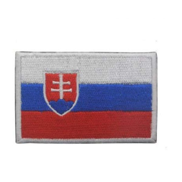 Tactical Embroidery Patch Airsoft Morale Patch 1 Slovak Flag Embroidery Patch Military Tactical Morale Patch Badges Emblem Applique Hook Patches for Clothes Backpack Accessories