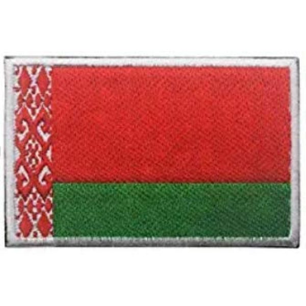 Tactical Embroidery Patch Airsoft Morale Patch 1 Belarus Flag Embroidery Patch Military Tactical Morale Patch Badges Emblem Applique Hook Patches for Clothes Backpack Accessories
