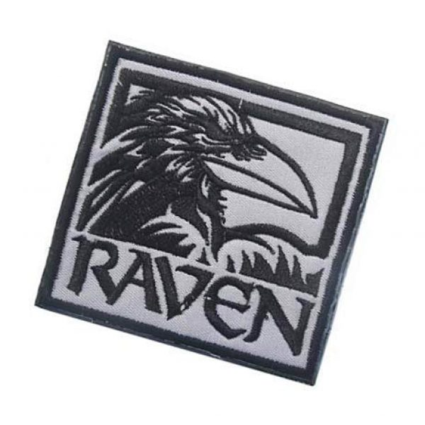 Embroidery Patch Airsoft Morale Patch 3 Raven Military Hook Loop Tactics Morale Embroidered Patch (color2)