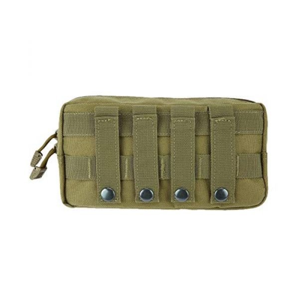 anyilon Tactical Pouch 1 anyilon Multifunction Tactical Molle Pouch Zipper Closure Large Waist Pack Outdoor Backpack Attachment Camping Hiking Pouch