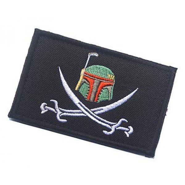 Embroidery Patch Airsoft Morale Patch 3 Star Wars Boba Fett Helmet Military Hook Loop Tactics Morale Embroidered Patch