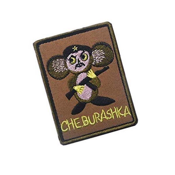 Embroidery Patch Airsoft Morale Patch 2 Russian POCCNR Cheburashka Military Hook Loop Tactics Morale Patch Embroidered Patch