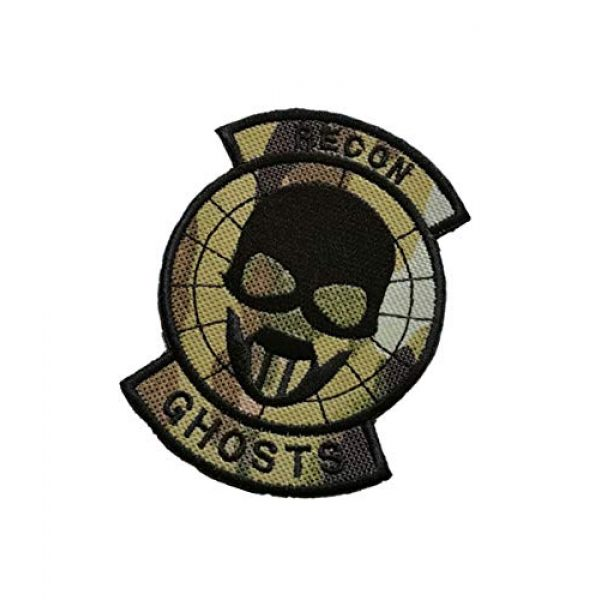 Embroidery Patch Airsoft Morale Patch 3 Ghost Recon Applique Military Hook Tactics Morale Embroidered Patch