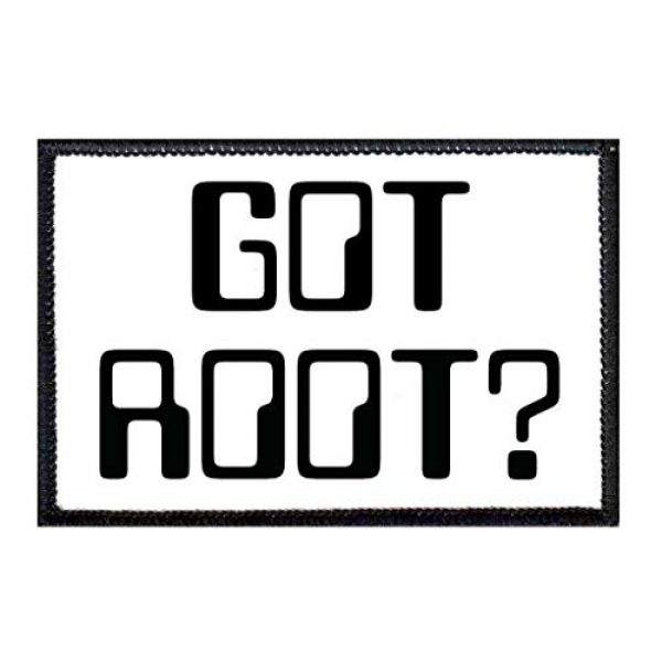 P PULLPATCH Airsoft Morale Patch 1 Got Root Morale Patch | Hook and Loop Attach for Hats, Jeans, Vest, Coat | 2x3 in | by Pull Patch