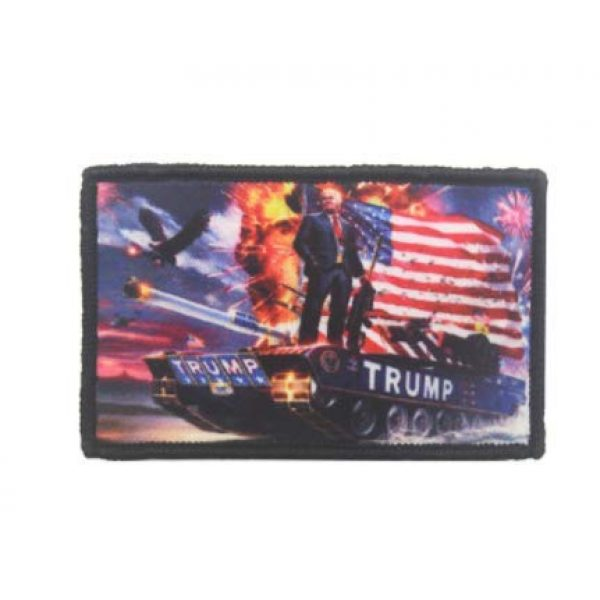 Embroidered Patch Airsoft Morale Patch 1 Trump Keeping America Great 3D Tactical Patch Military Embroidered Morale Tags Badge Embroidered Patch DIY Applique Shoulder Patch Embroidery Gift Patch
