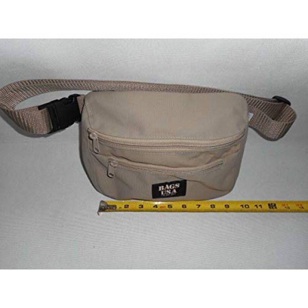 BAGS USA Tactical Pouch 7 BAGS USA Law Enforcement Fanny Pack,Gun Fanny Pack with Hidden Pocket,Made in U.s.a.