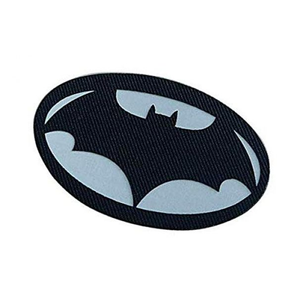 Embroidery Patch Airsoft Morale Patch 3 Batman Superhero Military Hook Loop Tactics Morale Luminous Reflective Patch (color1)
