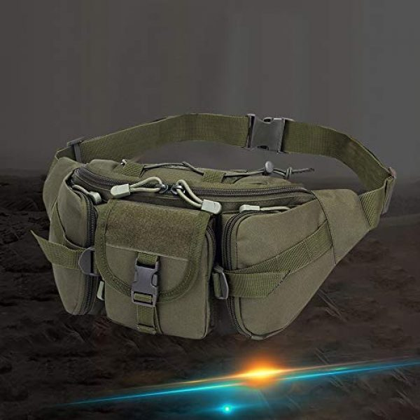 Aoutacc Tactical Pouch 6 Tactical Fanny Pack Military Waist Bag Pack Sling Bag Range Bag Utility EDC Hip Bag with Adjustable Strap for Outdoor Sports Jogging Walking Hiking Cycling