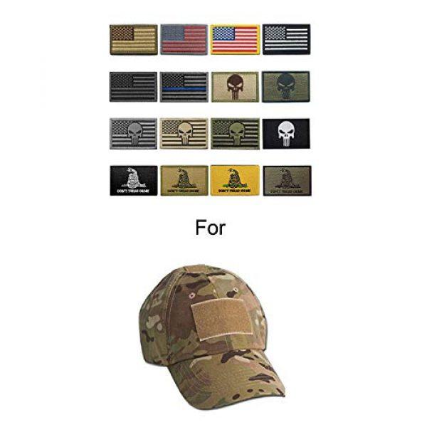 WZT Airsoft Morale Patch 3 WZT Bundle 16 Pieces American Flag Tactical Morale Military Patch Set