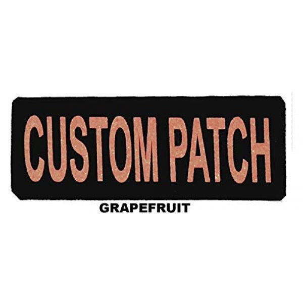 Dogline Airsoft Morale Patch 2 Dogline Custom Patch w/Glitter Letters for Dog Vest, Harness or Collar | Customizable Bling Text | Personalized Patches w/Hook Backing | Name, Agility, Service Dog, ESA