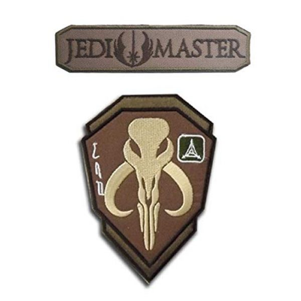 Embroidered Patch Airsoft Morale Patch 1 2pc Mandalorian Skull Star Wars Boba Fetter 3D Tactical Patch Military Embroidered Morale Tags Badge Embroidered Patch DIY Applique Shoulder Patch Embroidery Gift Patch