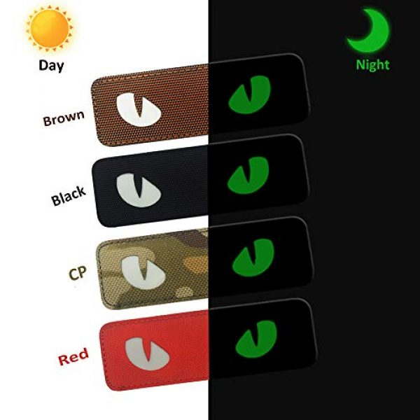 Zhikang68 Airsoft Morale Patch 3 Cat Eyes Morale Reflective Patch Tactical Military Army Embroidered Sew On Motorcycle Biker Tags Operator Hook and Loop Fasteners Emblem for Travel Backpack Hats Jackets Team Uniform (Dark Green)