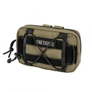 OneTigris Tactical Pouch 1 OneTigris EDC Horizontal MOLLE Pouch for Tool Treat Med