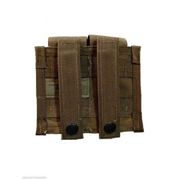 Airsoft Tactical Pouch 4 AirSoft Military Double 40MM HE High Explosive Grenade MOLLE Pouch Coyote