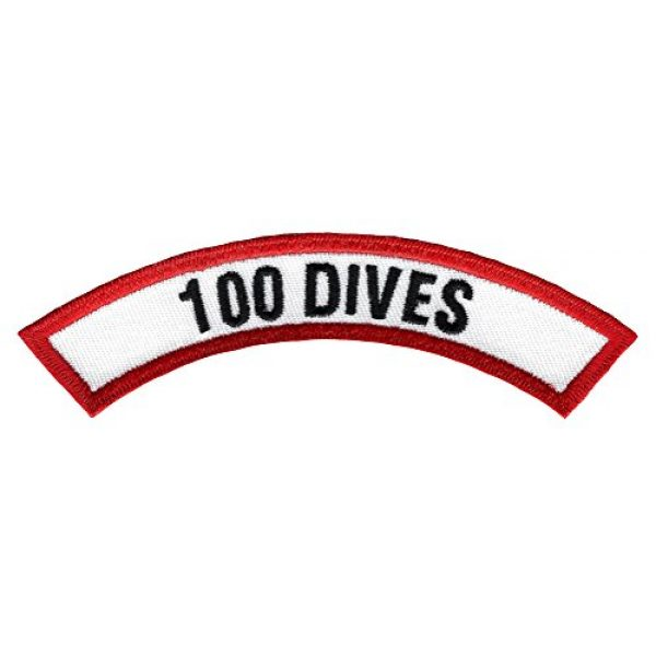 Cypress Collectibles Embroidered Patches Airsoft Morale Patch 1 100 Dives Chevron Patch Embroidered Iron On Scuba Diving Emblem Souvenir