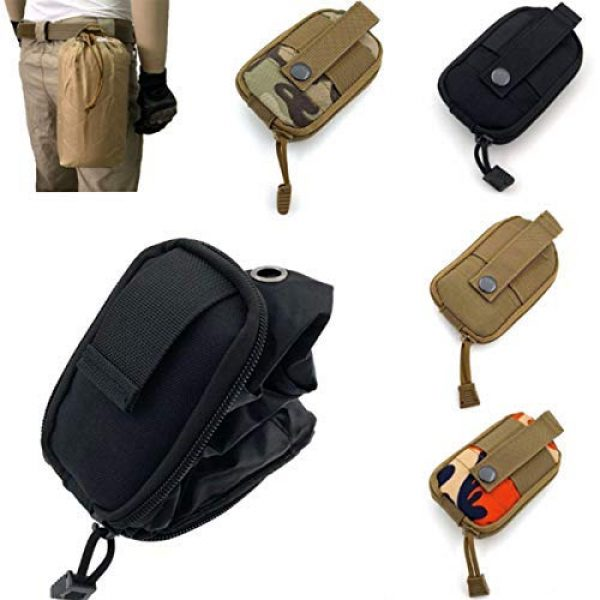 AIWAYING Tactical Pouch 6 AIWAYING Molle Dump Pouch Drawstring Spacious Folding Magazine Bag Military Holster Pack Outdoor Water Bottle Ammo Pouch