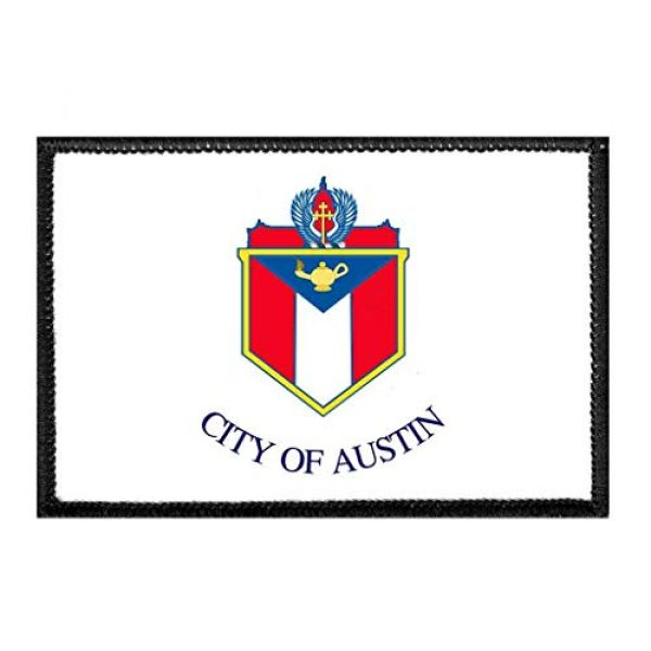 P PULLPATCH Airsoft Morale Patch 1 Austin City Flag - Color Morale Patch | Hook and Loop Attach for Hats, Jeans, Vest, Coat | 2x3 in | by Pull Patch