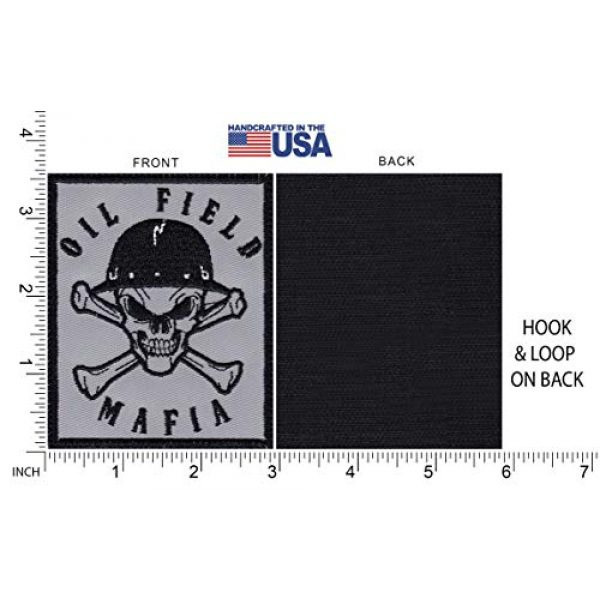 Tactical Patch Works Airsoft Morale Patch 5 Oil Field Mafia Skull & Cross Bones Oil Rig Roughneck Patch