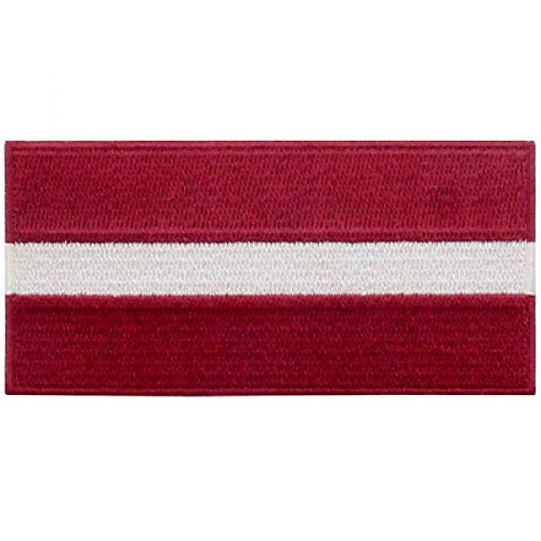 EmbTao Airsoft Morale Patch 1 EmbTao Latvia Flag Patch Embroidered National Morale Applique Iron On Sew On Latvian Emblem