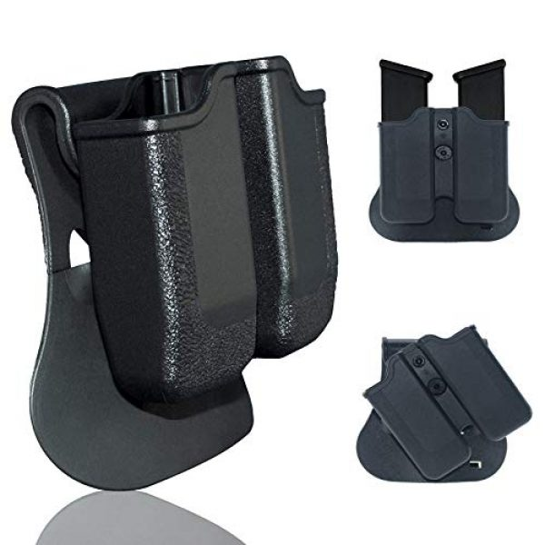 Backyard Blasters Tactical Pouch 1 Backyard Blasters Double Magazine Holster, Magazine Pouch fits for SIGP226 and P229, 9mm .40 Double Stack Mag with Adjustable Paddle