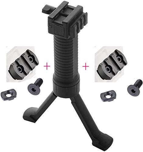 SONOVEL Airsoft Gun Bipod 3 SONOVEL Bipod 6-9 InchesMonopods Bipods for Hunting Foldable Legs Adjustable Monopods