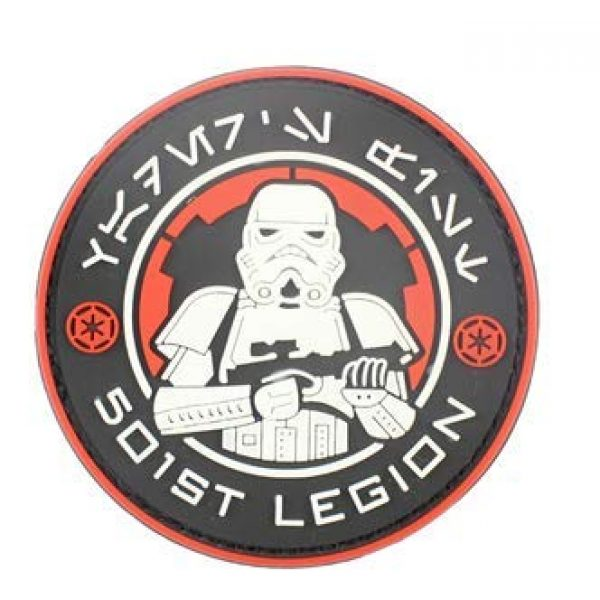Tactical PVC Patch Airsoft Morale Patch 5 Star Wars 501st Stormtrooper Legion Logo PVC Military Tactical Morale Patch Badges Emblem Applique Hook Patches for Clothes Backpack Accessories