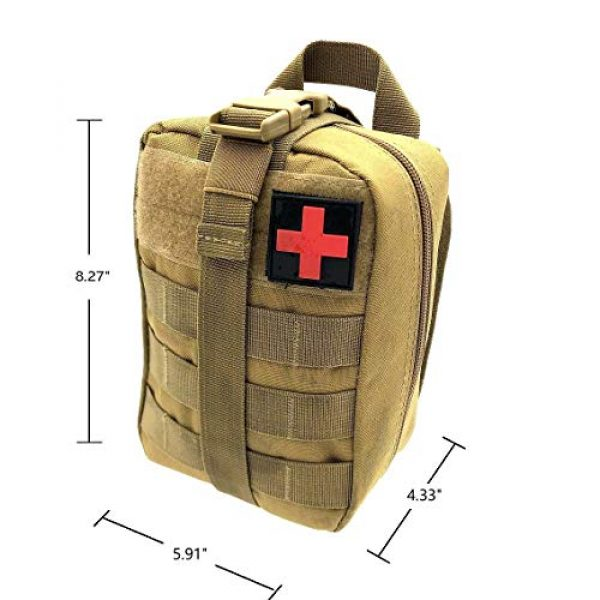 Miyha Tactical Pouch 2 MOLLE Tactical Rip-Away EMT Medical First Aid IFAK Blowout Pouch (Bag Only)