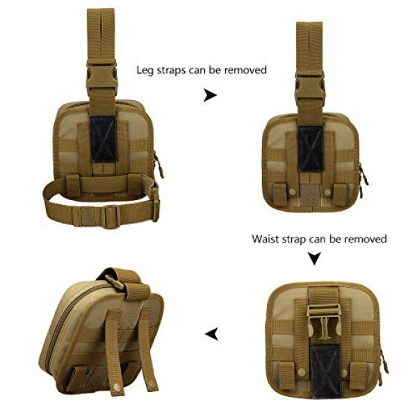 ArcEnCiel Tactical Pouch 7 ArcEnCiel Leg Bag Tactical Military First Aid Pouch Drop Waist Thigh Hip Fanny Pack Tool Gear for Paintball Airsoft Motorcycle Riding