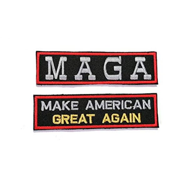 HOMMALAI Airsoft Morale Patch 1 B83 Make America Great Again MAGA Flag Military Tactical Embroidered Morale Patch 2 Pcs. (Hook Backing)