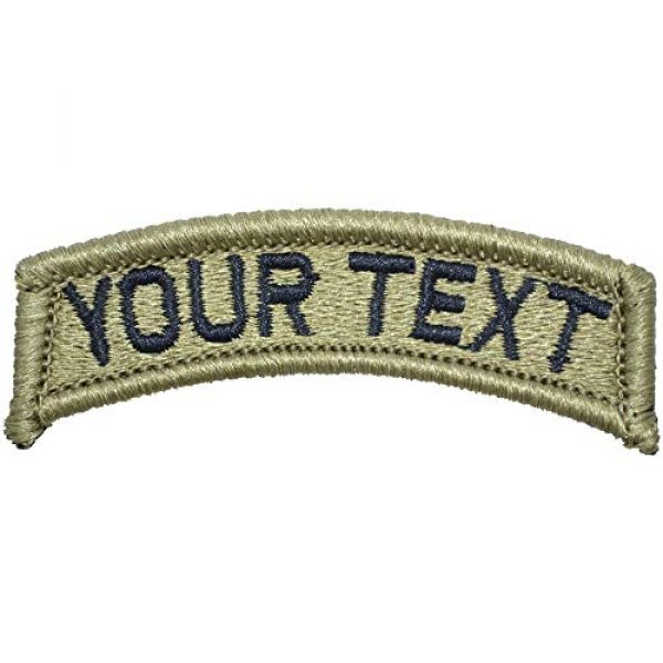 Tactical Gear Junkie Airsoft Morale Patch 1 Customizable Text Patch Fully Embroidered OCP - Tab