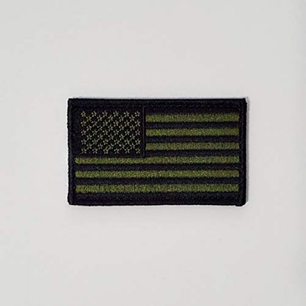 American Flag Airsoft Morale Patch 1 Tactical Morale Military Patch with Hook & Loop for Backpacks, Hats, Jackets, Pants, Size 3.25x2 (OD Green)