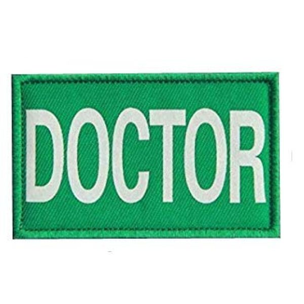 Embroidery Patch Airsoft Morale Patch 3 4 Pieces Doctor Infrared Reflective Military Hook Loop Tactics Morale Patch (color5)
