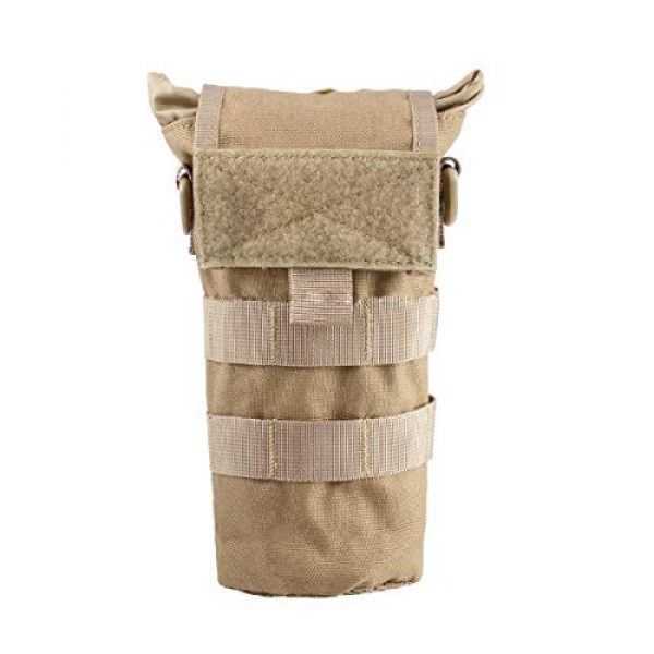 Azarxis Tactical Pouch 1 Azarxis Tactical Military MOLLE Water Bottle Pouch, Drawstring Open Top & Mesh Bottom Travel Water Bottle Bag Tactical Hydration Carrier