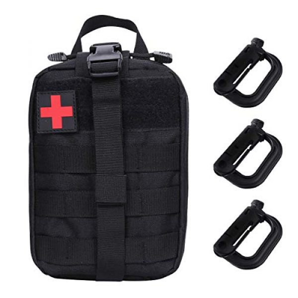 Aoutacc Tactical Pouch 1 Tactical MOLLE Rip Away EMT Medical Pouch, Empty IFAK Medical First Aid Kit Bag EDC Military First Aid Utility Pouch (Bag Only)