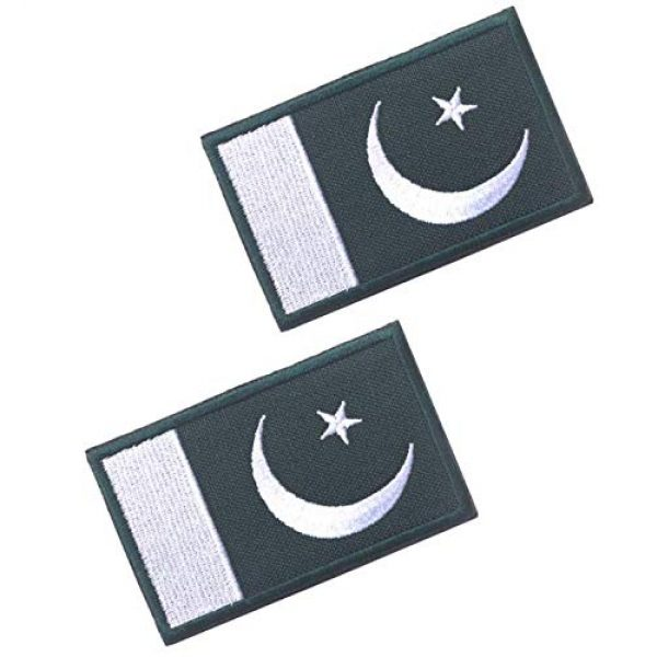 Tactical Embroidery Patch Airsoft Morale Patch 1 2pcs Pakistan Flag Embroidery Patch Military Tactical Morale Patch Badges Emblem Applique Hook Patches for Clothes Backpack Accessories